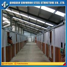 Estrutura de aço de baixo custo Pré-fabricada Barn Horse Stable