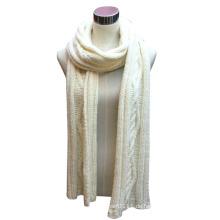Damen Wolle Acryl Mischung gestrickte Mode Schal (YKY4325)