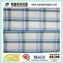 Tissu de coton peint pur de 40s * 40s avec plaid