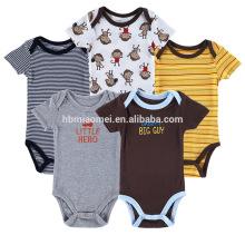 100% Algodão infantil unisex malha romper bebê recém-nascido jumpsuit