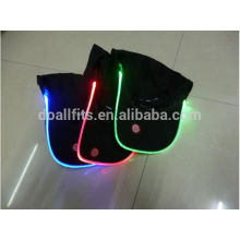 neon glowing lights black color led cap