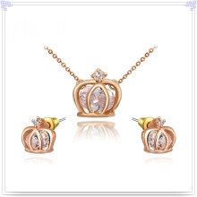 Bijoux en cristal Ensemble de bijoux à bijoux en alliage (AJS162)