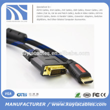 1080p 5ft/1.5M Cable HDMI to DVI24+1 Cord for PS3 Blu-ray DVD HDTV LCD 1080P XBOX