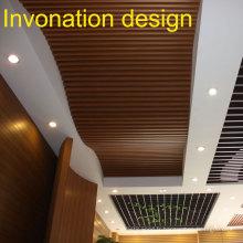 2015 Nouveau produit, conception incurvée, plafond WPC.