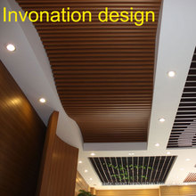 2015 New Product, Curving Design, WPC Ceiling.