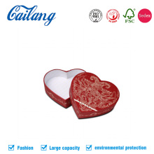 Высококачественные подарочные бумажные коробки в форме сердца CMYK