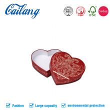 Boîtes-cadeaux promotionnelles en forme de cœur haut de gamme CMJN