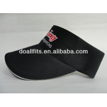 100% cotton Customized Logo fashion Sun visor cap,