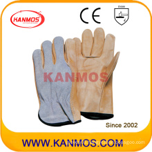 PPE Cow Split Back Cow Grain Drivers Leather Work Industrial Safety Gloves (12206)