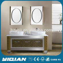 Cabinet de salle de bain en acier inoxydable de grande taille