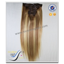 Wholesale top quality piano color silky straight 100% brazilian virgin human hair