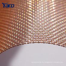 16mesh 20mesh tela metálica tejida de cobre rojo 1x30m rollo