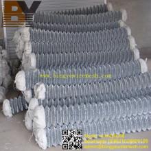 Heiß-eingetauchte galvanisierte Diamant-Maschendraht-Kettenglied-Zaun