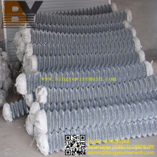 Valla de enlace de cadena de malla de alambre de diamante galvanizado en caliente