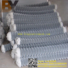 Hot-Dipped Galvanized Diamond Wire Mesh Chain Link Fence