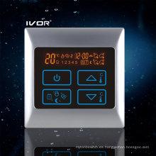 Termostato Programable de Calefacción por suelo radiante Interruptor táctil Metal Frame (SK-HV2000-M)