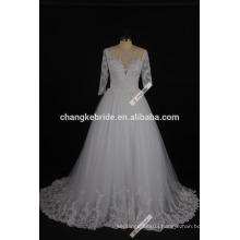 2017 New Arrival Long Sleeve Wedding Dress Floor Length Princess Bridal Dress