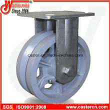 4 Inch to 8 Inch V-Groove Cast Iron Fixed Casters