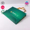Kundenspezifischer Druckgrün-Kleiderträger-Einkaufstasche