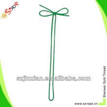 Green metallic decorative gift bows