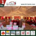 Luxuszelte mit Beleuchtung für Hochzeitsparty im Freien Party