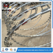 Zinc plated high quality razor barbed wire
