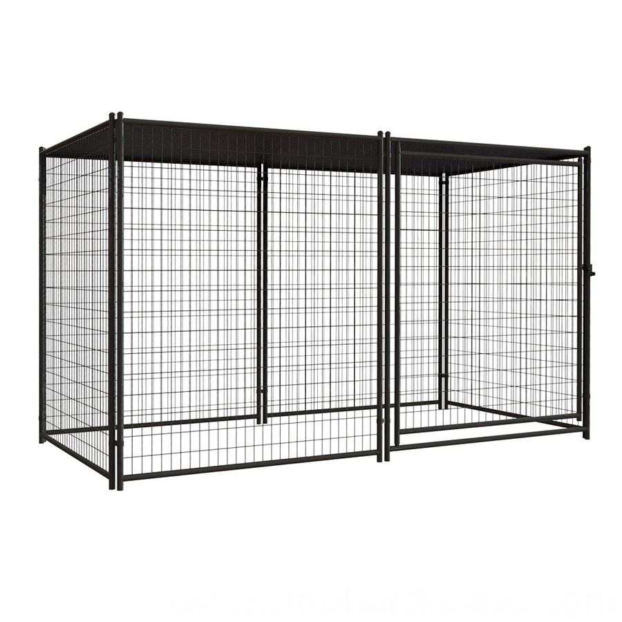 pet resort kennel with cover