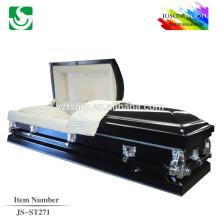 JS-ST271 barato alta qualidade estrangeira caixão abastecimento caixão de metal vendas