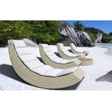 Lounge Chair Outdoor Rattan Fabric Chaise