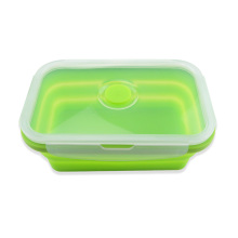 Lunch box pieghevole in silicone Safe Microwave