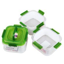 Contenedor de almacenamiento de categoría alimenticia hermético de 3 compartimentos con tapa