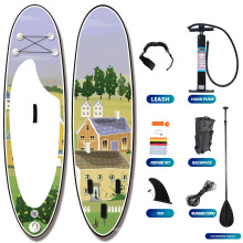 Professional Manufacturer Dropstitch PVC Transparent Stand Up Paddle Board Inflatable SUP Paddle Board Pump