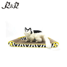 Graffiti Style Corrugated Cardboard Cat Scratch Sofa Lounge Cat Toy SCS-7011