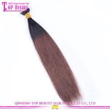 2015 vente chaude de haute qualité vierge brésilienne remy extensions de ruban de cheveux humains