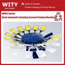 Máquina de impresión semiautomática de la pantalla de la tela (máquina de la impresión de la pantalla del shrit de T)