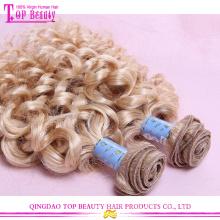Lockiges Haar Erweiterungen unbearbeitete 100 % reines russische Haar Großhandel