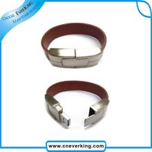 Fashion Leather Wristband USB Flash Drive