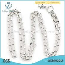 Neue Ankunft reine silberne chian Halskette, Frauen arbeiten Schmucksache einfache Halskette um