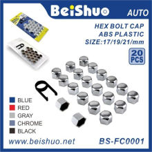 20+1PCS ABS Plastic Wheel Bolt Topper Caps Set