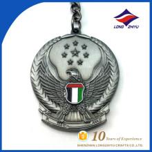 Porte-clés en aigle en métal de style antique avec étoile