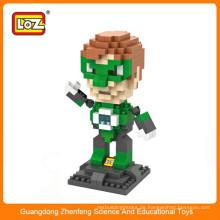 LOZ 9454 Mini Green Laterne Super Held Diamant Kunststoff Baustein pädagogischen Spielzeug