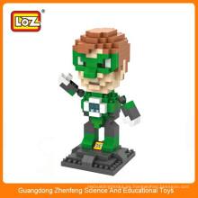 LOZ 9454 mini linterna verde Super héroe de plástico de diamante bloque de construcción de juguete educativo