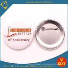 Bistro Aniversario Estaño Botón Insignia De China