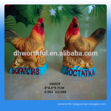2016 personalized polyresin rooster statue