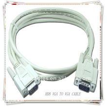 Blanco de alta calidad HDB15 PIN CABLE MM VGA SVGA CABLE proyector, cable del monitor LCD