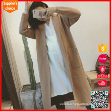 Latest fashion long cardigan knitted ladies coats cashmere