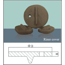 Exothermic insulating riser cover