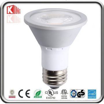 Venta caliente 7W COB LED PAR20, regulable LED PAR Light