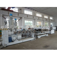 PVC Double wall corrugated pipe extruding line