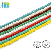 A5040 # -4 albâtre couleur cristal à facettes rondelle artisanat perles fournitures perles de pneu